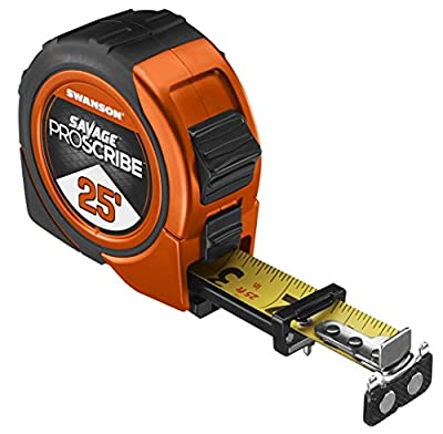 Swanson Tool SVPS16M1 16-Feet Magnetic Savage Proscribe Tape Measure