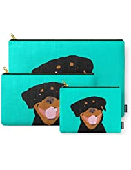 Society6 Rottweiler Graphic On Mint Carry-All Pouch
