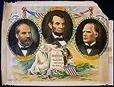 CUT 150 1901 MEMORIAM TO ASSASSINATED PRESIDENTS GARFIELD LINCOLN MCKINLEY