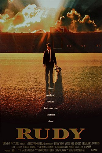 Rudy Movie Poster, US Version, size 24x36