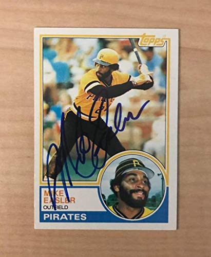 MIKE EASLER PITTSBURGH PIRATES SIGNED AUTOGRAPHED 1983 TOPPS CARD #385 W/COA
