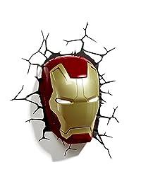 3D Light FX Marvel Iron Man Mask 3d Wall Light