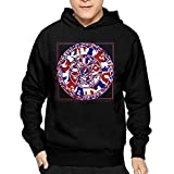 img - for Mens History Of The Grateful Dead CoolHoodies Hooded Sweatshirt Lightweight book / textbook / text book