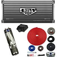 Boss AR4000D 4000W MONO Car Amplifier + Remote + 4.5 Farad Capacitor + Amp Kit