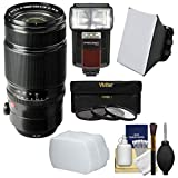 Fujifilm 50-140mm f/2.8 R LM OIS WR Zoom Lens with 3 Filters + Flash &...