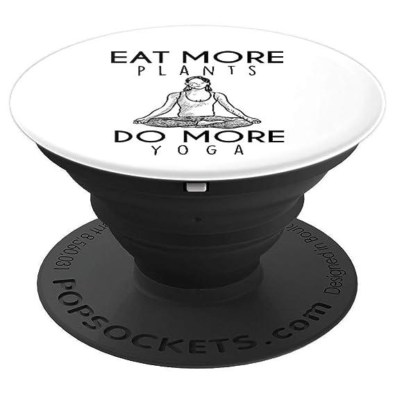 Amazon.com: Eat More Plants Do More Yoga Funny Yoga Tops ...