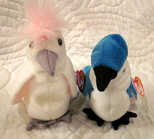0c57e536b59 Set of Two Ty Beanie Baby Birds - KuKu and Rocket by Ty