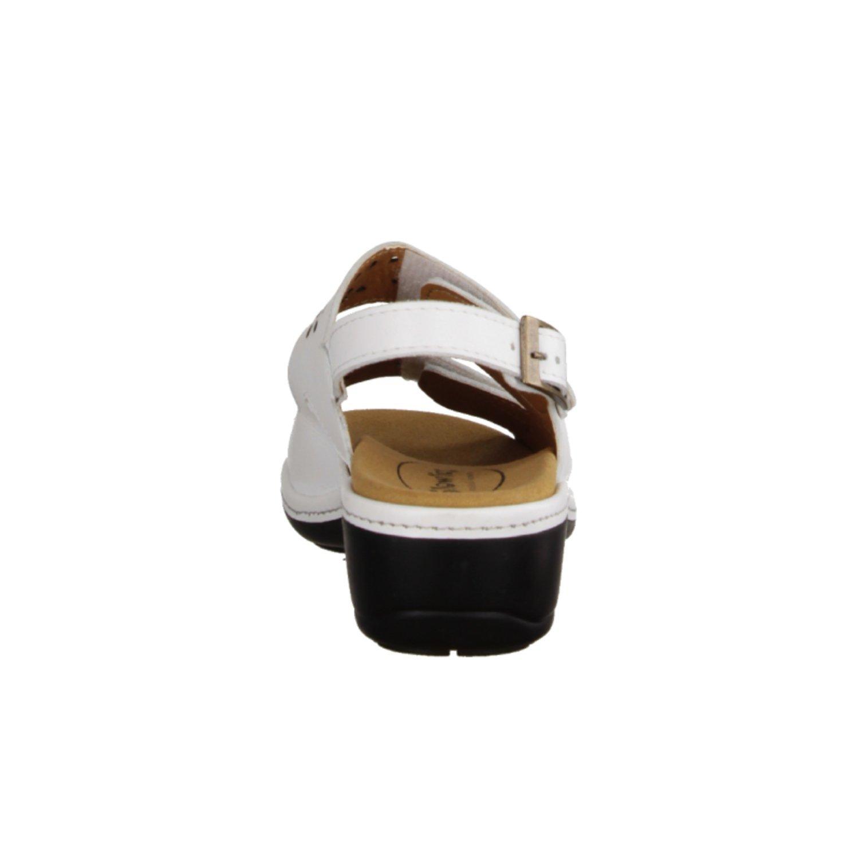 SLOWLIES 416- Weiß, Damenschuhe Sandale bequem/lose Einlage, Weiß, 416- Leder - 36f9d4