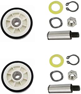 2pcs 303373K Roller Wheel Drum Support Kit for Maytag & Admiral Dryers AP4008534, 12001541VP, 3-3373, 303373