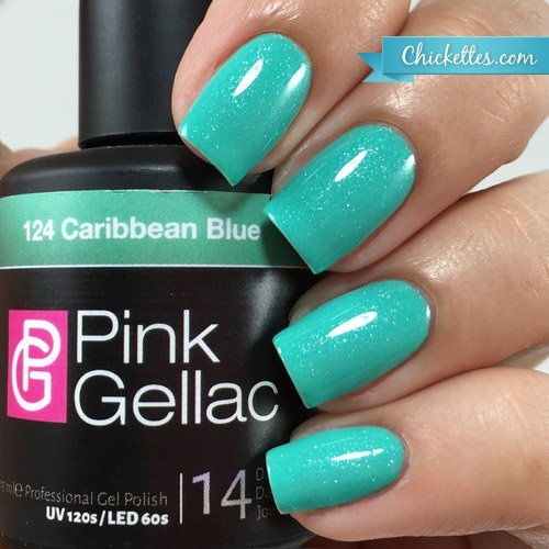 Pink Gellac #124 Caribbean Blue Soak-Off UV / LED Gel Polish