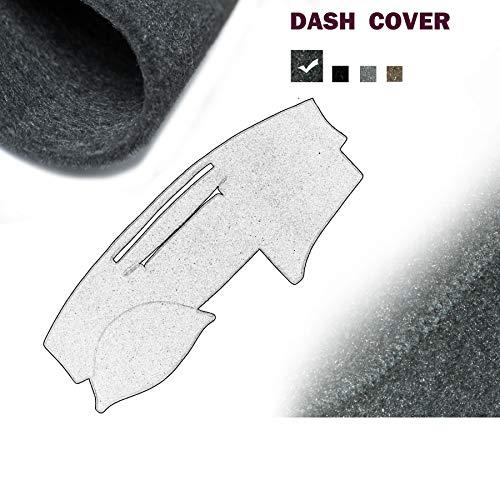 1pc Fits 2007-2011 Toyota Camry Dark grey Dashboard Mat Pad Dash Covery ()