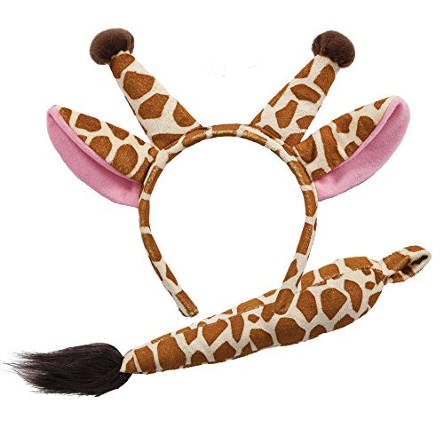 Wicked Giraffe Ears & Tail Animal Fancy Dress Accessory -