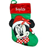 Personalized Licensed Character Christmas Stocking (Minnie Mouse)