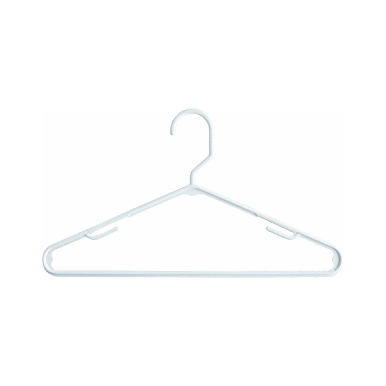 Tamor Plastics Corp Home Products International 6808WH10.14 Pack of 10 6808//10WH.14 Cheerful Tubular Plastic Clothes Hanger