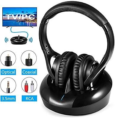 Wireless Headphones For Tv Rf Headphones Optical Uhf Amazon Co Uk Electronics