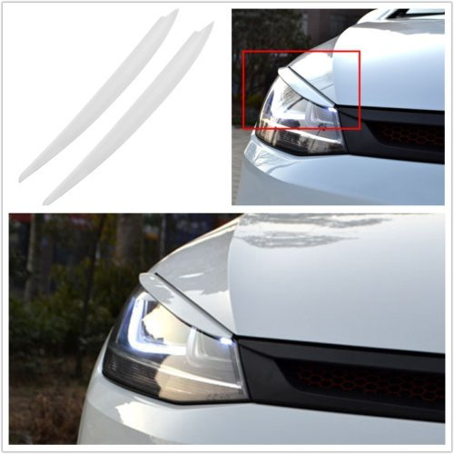 Flash2ning Headlights Eyebrow Eyelids Trim fit for VW Golf 7 VII GTI R MK7 - -
