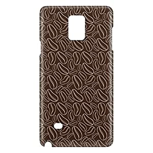 Loud Universe Galaxy Note 5 Coffee Beans Print 3D Wrap Around Case - Dark Brown