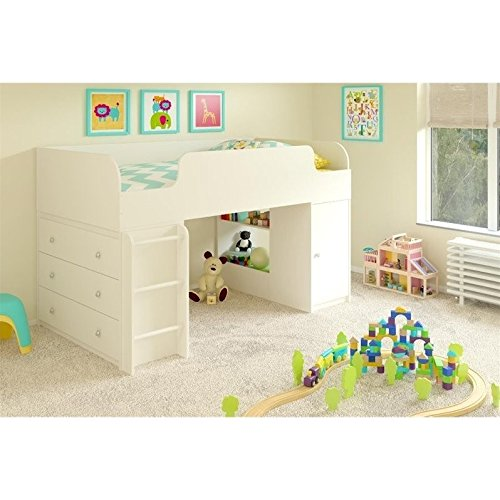 Cosco Products Elements Loft Bed with Dresser and Toy Box...