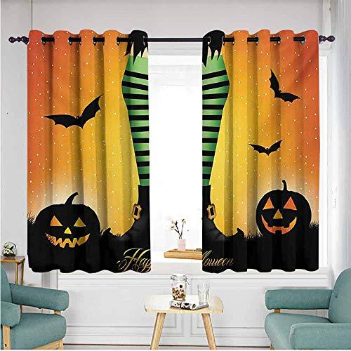 ETHEEKA Indoor/Outdoor Curtains,Halloween,Blackout Draperies for -