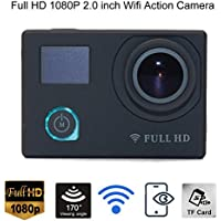 Full HD 1080P 2.0 inch Wifi Helmet Action Video Camera 170 Degree Wide Angle 12MP Waterproof Sport Camcorder