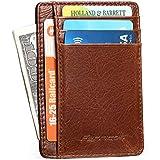 Mens Wallet Front Pocket Wallet Slim Genuine...