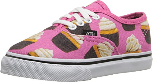 Vans Toddlers Hot Pink/Cupcakes Authentic Canvas Trainers-UK 4 Infant]()