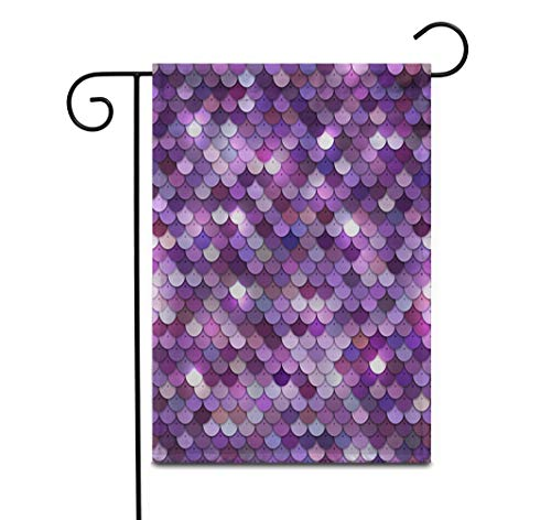 """Awowee 12""""x18"""" Garden Flag Purple Abstract Colorful Pink Sequined Beaded Bright Circles Closeup Dark Outdoor Home Decor Double Sided Yard Flags Banner for Patio Lawn"""
