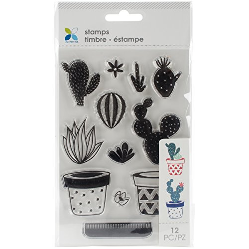 Momenta Clear Stamps 4 X7 5  Build Your Own Cactus