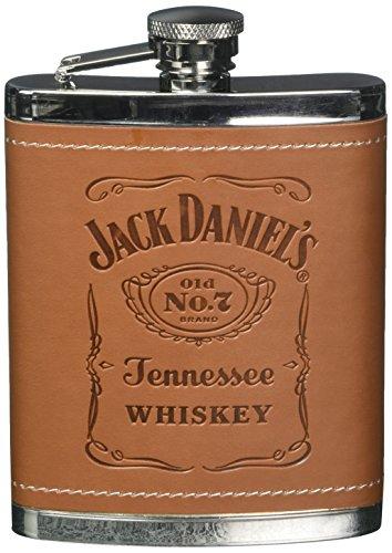 Jack Daniels Licensed Barware 5551 Label Flask, 6 oz, Silver ()