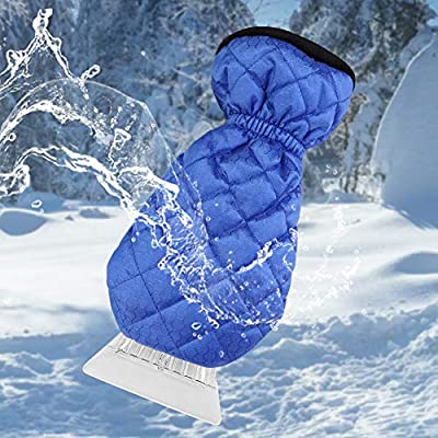 Ice Scraper for Car Windshield with Mitt 1 Pack Snow Ice Scraper Remover Tool with Glove Waterproof Warming Snow Shovel for car Window & Windshield, Scratch-Free(Blue, 1 Pack): Automotive