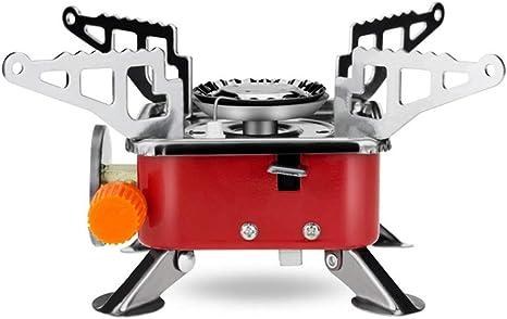 mochilero Odoland Mini Estufa de Camping Estufa Plegable de Acero con Encendido piezoel/éctrico Senderismo Mini Estufa de Gas Ultraligera y Duradera Picnic