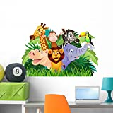 Wallmonkeys Animal Cartoon Wall Decal Peel and Stick Graphic (36 in W x 25 in H) WM311214