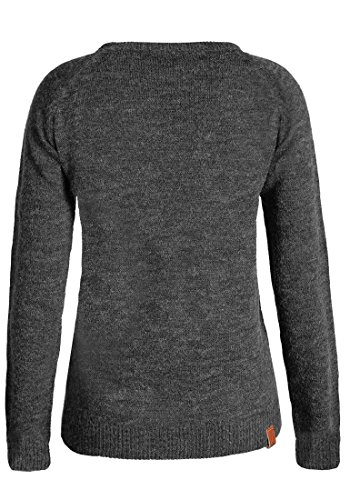 Maille Nele Pull Rond 70818 She Femme Charcoal Pull Tricot en Encolure Blend Over avec pour IxnqC5w