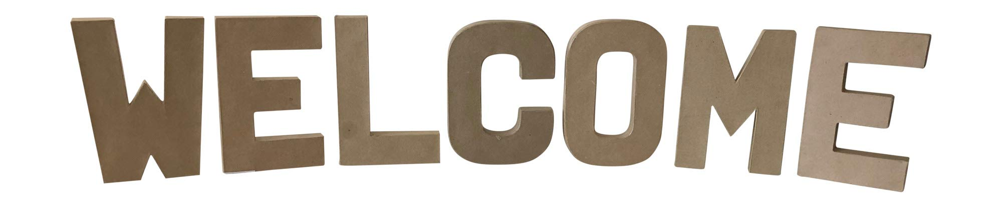 Paper Mache Letters- 8'' x 5.5'' (Welcome) by Generic