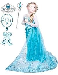 Ice Queen Glitter Princess Dress