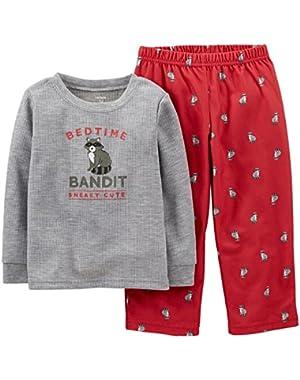 Carter's Baby Boys' 2 Piece Pant PJ Set (Baby) - Racoon - 18 Months