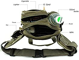 0e716d90beac Lerben Outdoor Hiking Travel Waist Pack Bum with Water Bottle Holder ...