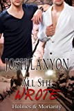 Front cover for the book All She Wrote by Josh Lanyon