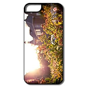 IPhone 5 5S Cases, Flowers Sunset White/black Cases For IPhone 5S