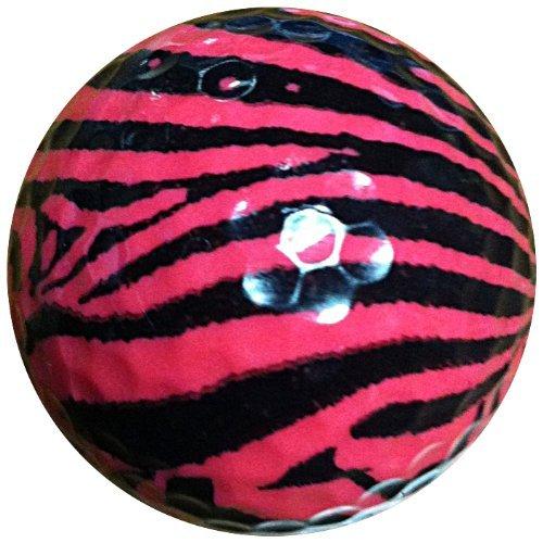 GBM Golf Animal Novelty 2 Ball Tube, Pink Zebra [並行輸入品] B071ZXK128