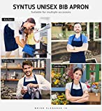 Syntus 2 Pack Thicker Version Adjustable Bib Apron