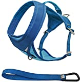 Kurgo Go-Tech Adventure Dog Harness, Medium, Blue - Lifetime Warranty