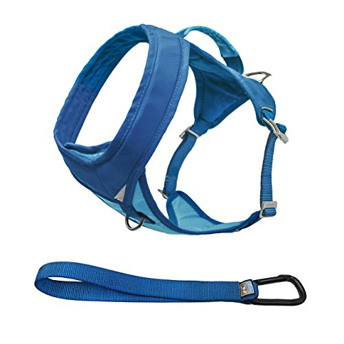Kurgo Go-Tech Adventure Dog Harness with Front Clip, Easy On and Off Pet Harness, Reflective Dog Harness for Running, Hiking, and Walking, Medium, Coastal Blue