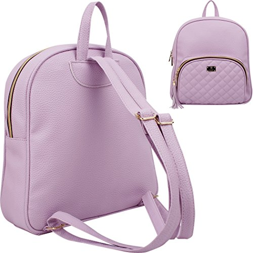 One Violet Size School Backpack Women's Beige Copi qgazHf