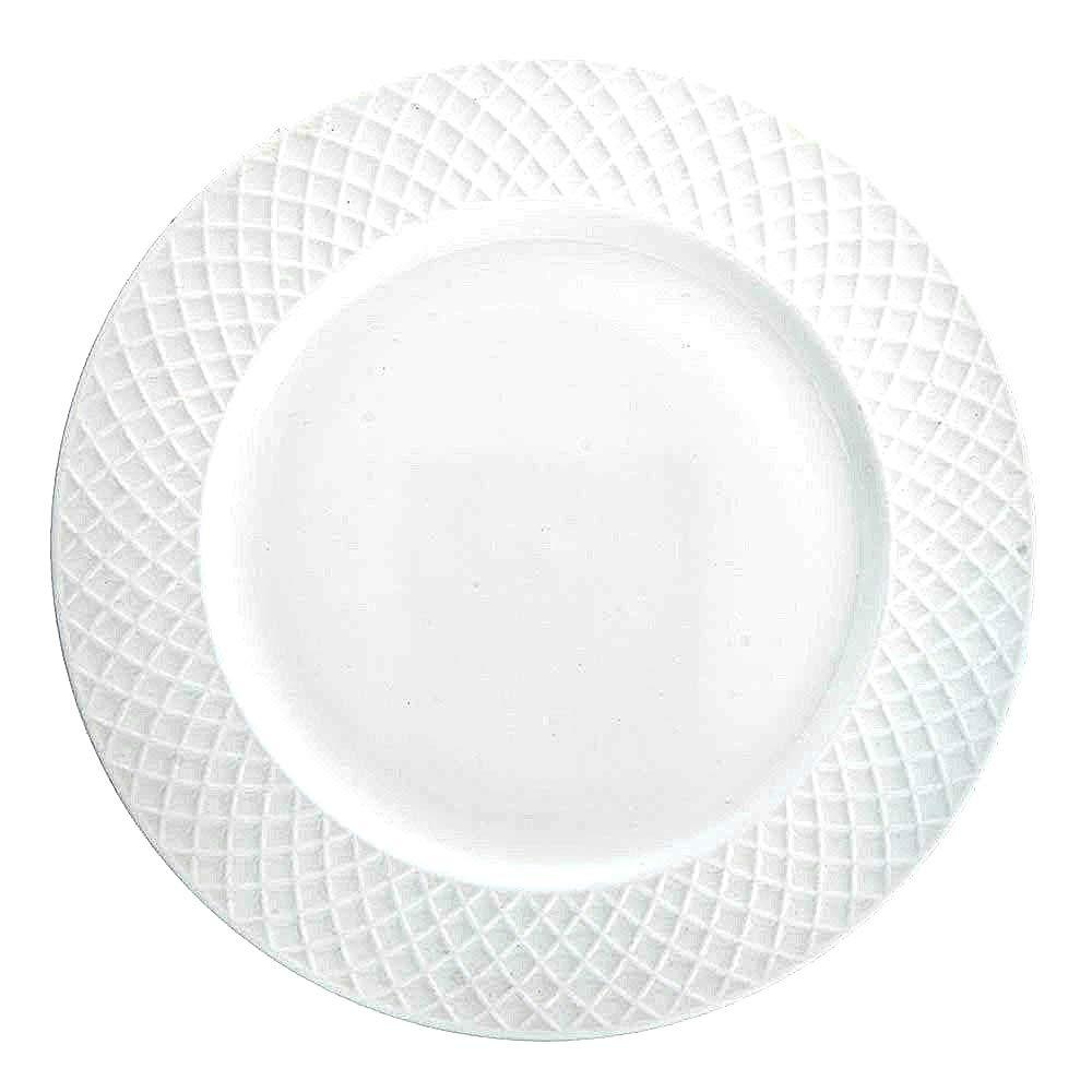 Trellis ホワイトディナープレート(4枚セット) | 上質ボーンチャイナ | MIKASSA   B07NGSMHVZ