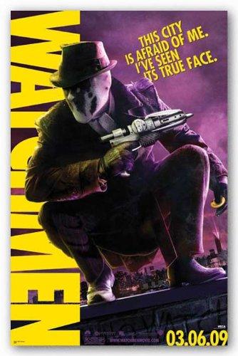 amazon com watchmen movie rorschach crouching with gun poster