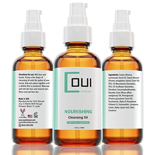 Nourishing Facial Cleansing Oil - 100% Active Ingredients and Natural Oils - Protects Your Skin's Natural Healthy Oil While Purges The (The Purge Girls)