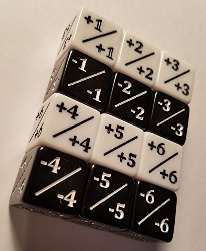 12x Dice Counters / White +1/+1 & Black -1/-1 / for Magic: The Gathering and other games / CCG MTG by quEmpire