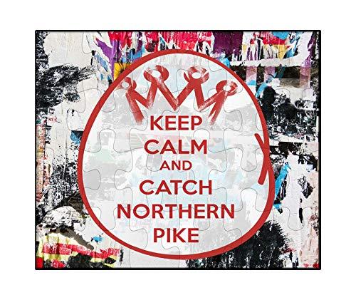 - Makoroni - Keep Calm and Catch Northern Pike - Jigsaw Puzzle, 30 pcs.