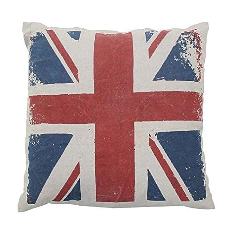MonbeauCoussin Cojín Londres UK Flag Vintage (50 x 50 cm ...